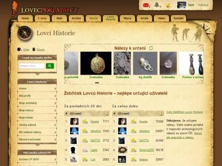 Lovci Historie tablet
