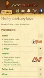 LovecPokladu.cz - mobilní varianta