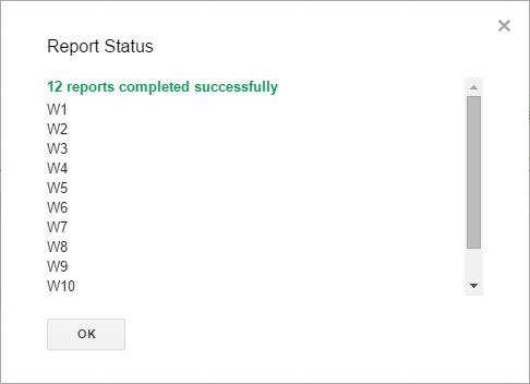 GA report result