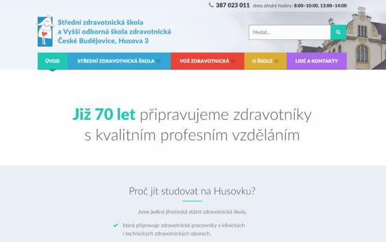 Web SZŠ a VOŠ České Budějovice