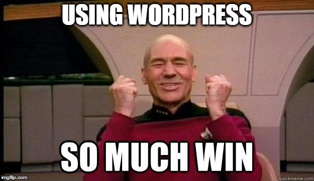 using wordpress so much win