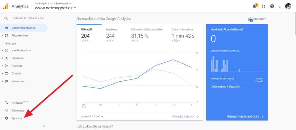 Jak na sdílení přístupů: Google Analytics