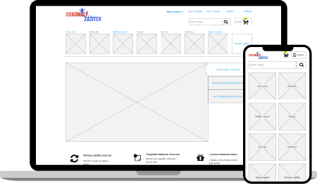 Návrh webu a UX design - prototoyp